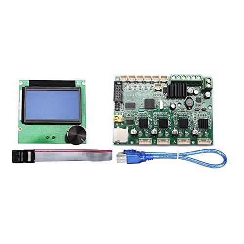 Controladores de Impresora 3D Placa Base + LCD Display 12864 con el Kit de Cables for Tablero de Control Creality Ender-3 Impresora 3D Placa Base de reemplazo (Color : Green, Size : One Size)