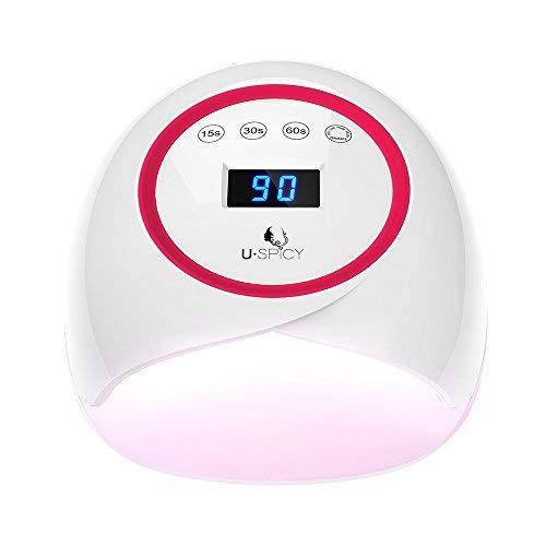 Lampada Unghie UV LED, USpicy Asciugatore per Unghie, Asciugatura Rapida, Ampio Spazio, Timer con 4 Impostazioni, per Tutti i Tipi di Smalto, Manicure/Pedicure,36W (12W)