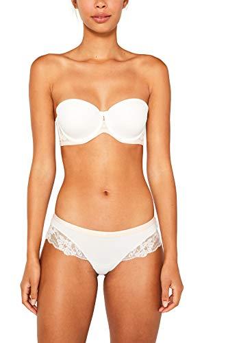 ESPRIT Damen MACKAY BRZ.h.Shorts Panties, Weiß (Off White 110), 38