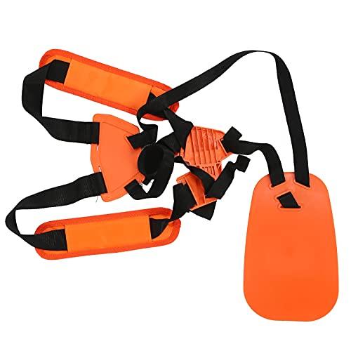BIKING Desbrozadora de arnés, Recortadora Correa de Hombro Correa de arnés de cortacésped Cinturón de Nailon de Doble Hombro Compatible con desbrozadora-Naranja