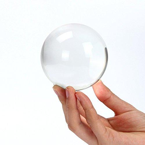 Donnagelia - Sfera di cristallo trasparente per fotografie, decorazione da ufficio, casa, matrimonio, Vetro, 60mm