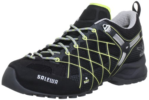 SALEWA WS WILDFIRE GTX, Damen Trekking & Wanderhalbschuhe,Schwarz (0916 Black/Sulphur), 36.5 EU