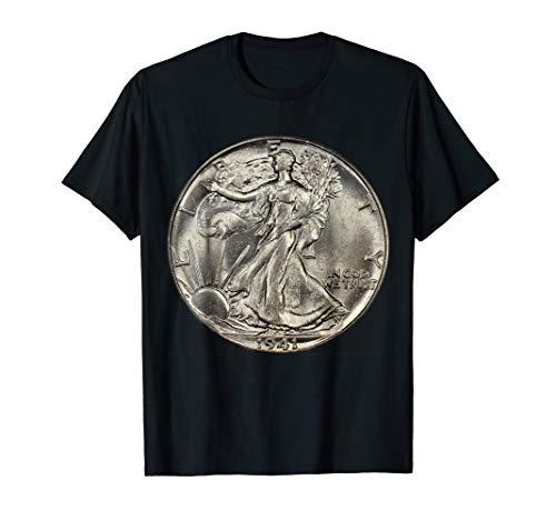 U.S. Walking Liberty Half Dollar Coin Collecting T-Shirt T-Shirt