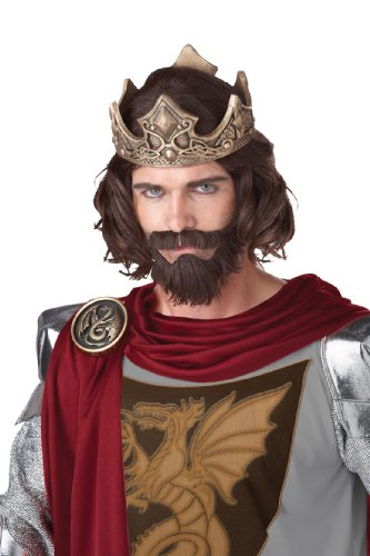 California Costumes Medieval King Wig, Brown, One Size