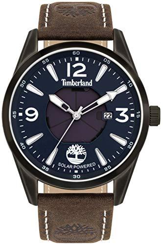 Timberland Rockbridge Herren Uhr analog Solar mit Leder Armband TBL.16004JYU-03
