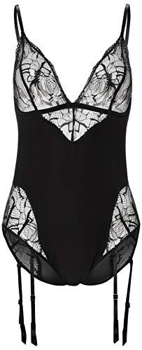 Calvin Klein Bodysuit Salida de Bao, Negro, S para Mujer