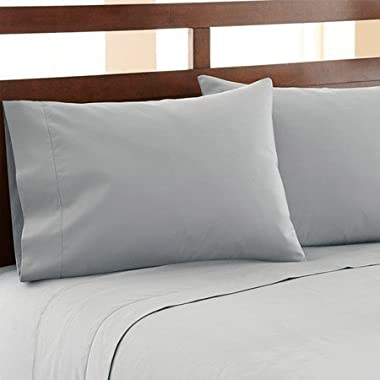 HC COLLECTION Hotel Luxury Bed Sheets Set 1800 Series Platinum Collection, 4pc Deep Pocket,Wrinkle & Fade Resistant, Hypoallergenic (King,Artic Ice Blue)