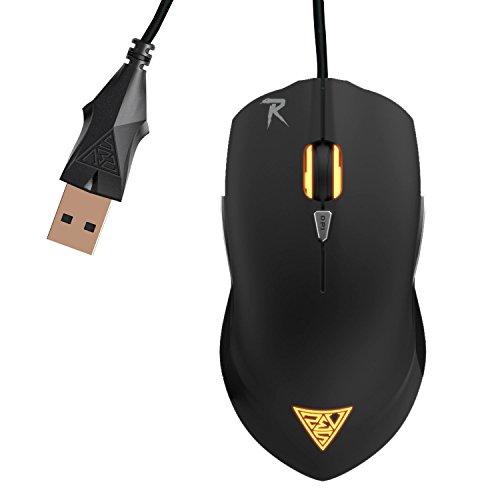 GAMDIAS OUREA FPS OPTICAL - Ratón (USB, Juego, Pressed buttons, Rueda, Óptico, Negro)