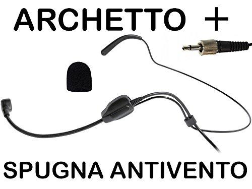 MPE - Cuffia professionale archetto per microfoni e radiomicrofoni CONSEDATORE - CARDIOIDE compatibile PROEL AKG SENNHEISER mod: HD1F
