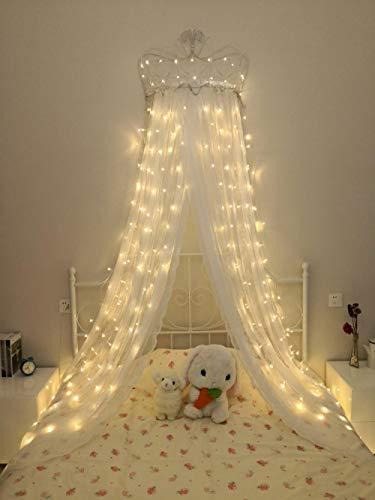 CJKBD Led Sterne Vorhang Lichter Wasserfall Lichter String Lichter Mädchen Herz Lichter Weiß 6M * 3M (Plug-in) 600 Lichter