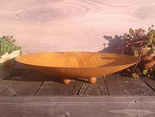terracotta-toepfe-de Schale ca. 40 cm !! besonders dick !! 2mm !! mit Kugelfüßen aus Metall - Edelrost Rost Eisen Deko Garten Feuerschale Pflanzschale