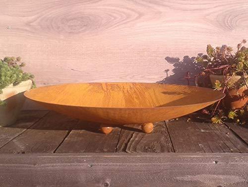 terracotta-toepfe-de 2 mm dick!! sehr stabil!! Schale ca. 40 cm mit Kugelfüßen aus Metall - Edelrost Rost Eisen Deko Garten Feuerschale