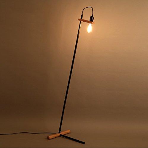 Stehlampe Industrie-Retro-Stil Schmiedeeisen kreative Persönlichkeit Wohnzimmerlampe Holzstehlampe Wohnzimmer