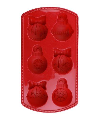 Siliwelt 0032 platinum moule en silicone à revêtement boules de noël rouge bordeaux 32 x 21 cm