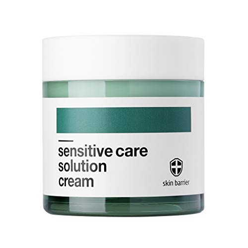 [BELLAMONSTER] Sensitive Care Solution Cream 2.37 fl.oz.(70ml) - Hijiki Seaweed Extract Contained Soothing & Long Lasting Moisturizing Facial Cream, Redness Relief for Sensitive & Rough Skin