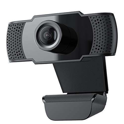 usogood Webcam 1080P FHD PC Webcam con Microfono Stereo, USB 2.0 Videocamera Audio Stereo ridurre Il Rumore per Video Chat e Registrazione
