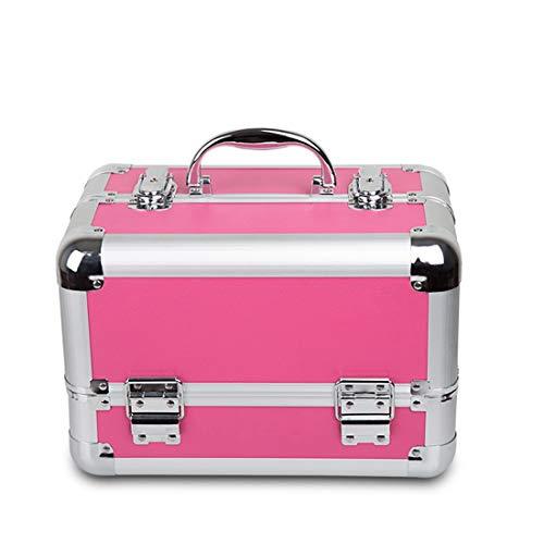 Cvthfyk Extra Large Espace Rangement Boîte De Beauté Maquillage Bijoux Ongle Cosmétique Commode Coiffeuse Vanity Rose (Couleur : Rose)