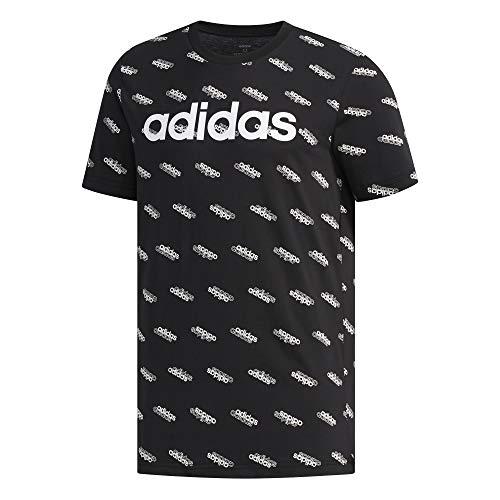 adidas Herren M FAV Tee T-Shirt, Black/White, XL