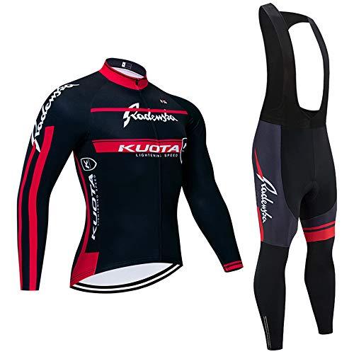 Ropa Ciclismo otoño/Primavera para Hombre y Mujer - Un Conjunto de Ciclismo Jersey Maillot y Larga Pantalones