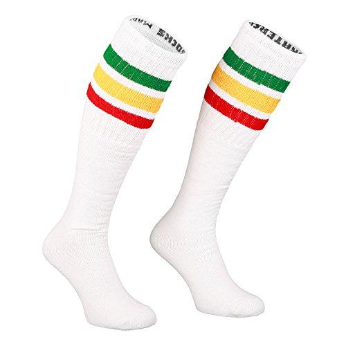 Skatersocks rojo y negro Talla /única para hombre blanco Blanco Calcetines hasta la rodilla