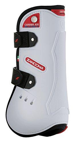 Zandonà Carbon Air Balance Sehne Gamasche-Schutz des Pferdes Large weiß