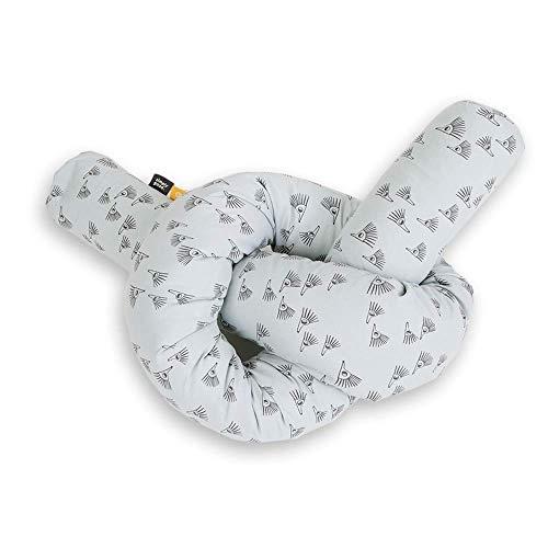 SIMPLY GOOD. Parachoques para la Cabeza en la Cuna, Almohada Multiusos diseñada para brindar protección.Bumper Pillow Snake para Mayores de 0 años.Tamaño: 82,6 Pulgadas (erizos Grises)