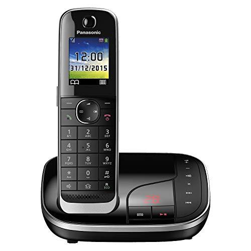 Panasonic KX-TGJ320GB Familien-Telefon mit Anrufbeantworter/ DECT Basisstation, schnurloses Telefon, strahlungsarm, schwarz
