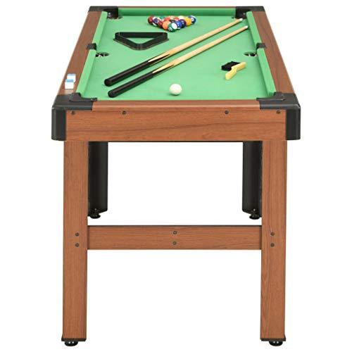 Festnight Billardtisch 4 Fuß mit Billiardqueue Kreide Dreieck Kugelset Bürste Pool Billiard Billard Tisch 122×61×76 cm Braun