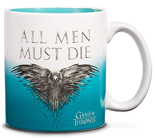 Game of Thrones 20 oz Mug – All Men Must Die Ceramic Mug - Large Collectible Coffee Mug - Novelty GoT Coffee Cup