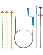 Afvoer Relief Tool Drain Snake Haar Auger Klomp Remover Cleaning Tool Flexibele Spoelbak Pijp Unblocker voor Sink Keuken Badkamer Bad 6 Stks