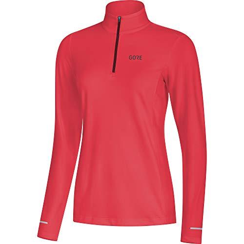 GORE WEAR Femme Maillot de course respirant à manches longues, R3 Women Long Sleeve Shirt, 34, Fuchsia, 100078