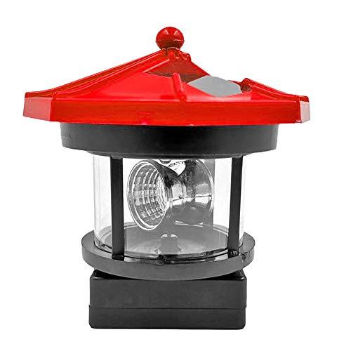 Prosperveil LED Solar Leuchtturm Lichter Garten Ornamente Laterne drehbar Outdoor Wasserdicht Lampe für Deck, Zaunleuchten Hof Terrasse Beleuchtung Party Dekor rot