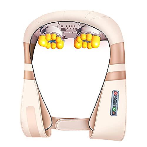 SHDream Masajeador de cuello climatizado, Masajeador de espalda con amasado profundo, Acupresión 3D Cuello eléctrico y masajeador de hombros, utilizado en la oficina en el hogar y el automóvil, Regalo