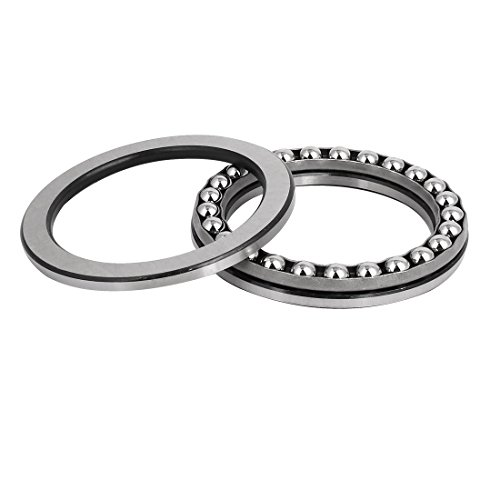 uxcell 51115 Thrust Ball Bearings 75mm x 100mm x 19mm Chrome Steel Single Direction