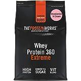 Batido de Proteína Whey 360 Extreme   Bolsa de 600g   Sabor fresas con nata   Proteína de suero