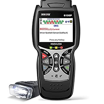 INNOVA 6100P ABS SRS Transmission OBD2 Scanner Live Data Car Code Reader Diagnostic Scan Tool with Oil Reset /Battery Alternator Test / Full OBD II/ Repair Solutions 2 APP