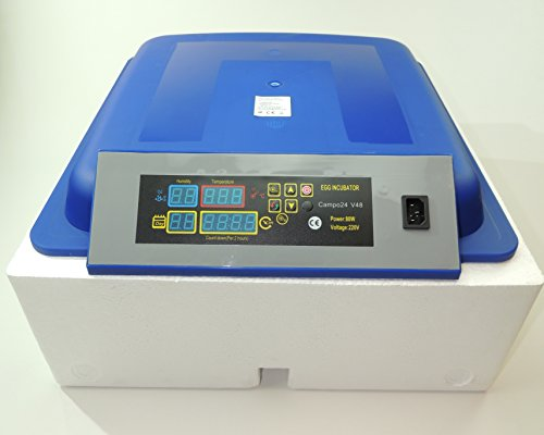 Campo24® V48 + 5 tlg. Zubehör Motorbrüter für bis zu 48 Eier/Inkubator/Vollautomatischer Motorbrüter/ Incubator - 2