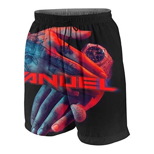 Lawenp Anuel-AA Teen Boy Girl Beachwear - Pantalones cortos de baño para la playa (7-20 años) blanco L