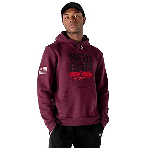 New Era Ne Contemporary Graphic Hoody Newera FBG Sweatshirt, dunkelrot, M