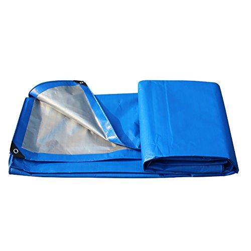 JD Bug Dubbelzijdig waterdicht dekzeil Duurzame buitenisolatie Regendichte val Gronddoek dekt Dikke luifel Anti-aging gordijn Awning Awning Truck cover-Blauw, 200G / M2 (Afmetingen: 2 * 2m)