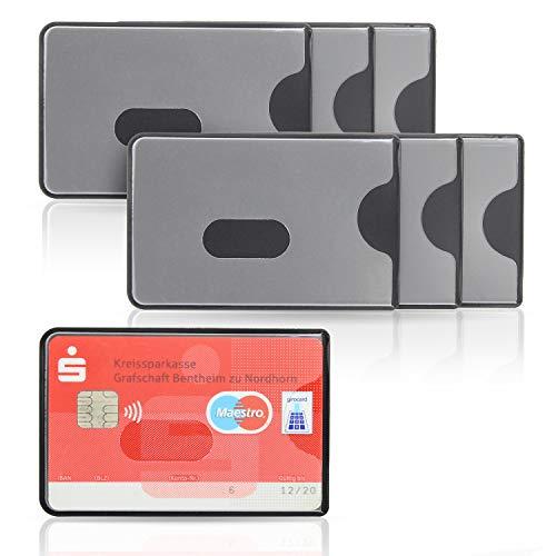 WallTrust RFID NFC Blocker Schutzhülle – Kartenschutzhülle für Kreditkarten, 6er Set, transparente Vorderseite