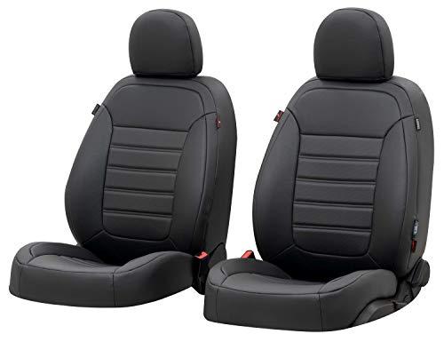 Walser Sitzbezug Robusto, Schonbezug kompatibel mit Golf 6 Trendline Baujahr 10/2008-02/2014 bis Heute, 2 Einzelsitzbezüge für Normalsitze