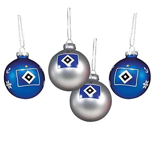 HSV Weihnachtskugeln 4er Set