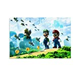 JIANGJUNO Póster de anime de Mario Bros Fond D É Cran de 30 x 45 cm