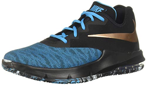 Nike Herren Air Max Infuriate Iii Low Basketballschuhe, Mehrfarbig (Black/MTLC Red Bronze/Lt Current Blue 6), 45 EU