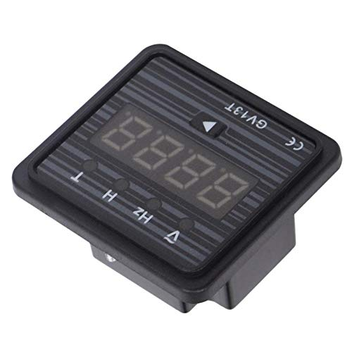 Probador de corriente y probador de voltaje 3 en 1, amperímetro de pantalla LCD, voltímetro, 220 V / 380 V, generador GV13T para pantalla de frecuencia de voltaje del generador(Sistema 220V)