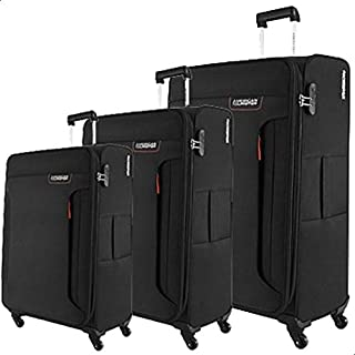 American Tourister Luggage Trolley Bag Set,3 Pc,Black,32O09007