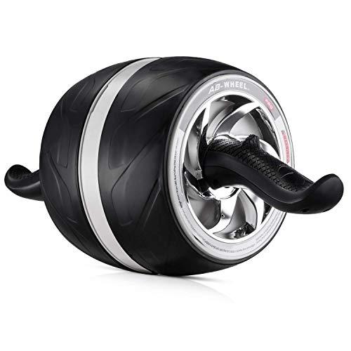 Laus AB Carver Wheel Roller – mit Kniepolster-Matte, automatischem Rückprall und mehreren Winkeln Core Workouts (schwarz)