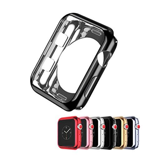 UKCOCO Custodia per Apple Watch 38mm 42mm, Confezione da 6 Cover Ultra Sottile Custodia iWatch Soft TPU Protezione per Schermo Custodia Protettiva per Apple Watch Serie 1/2/3 Sport ed Edition