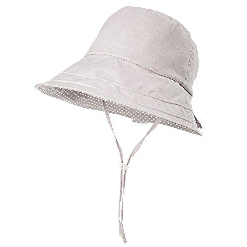Fancet - Sombrero de sol plegable para mujer, playa, safari, accesorios, senderismo, viajes, spf, Medium, Gray_89009